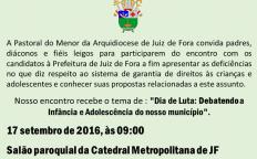 Pastoral do Menor da Arquidiocese de Juiz de Fora promove encontro na Catedral