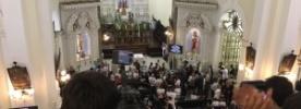 Missa é realizada com jornalistas vítimas da queda do avião da Chapecoense em Florianópolis