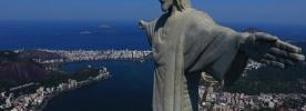 Santuário de Aparecida e Cristo Redentor ganham iluminação nas cores da Economia de Francisco