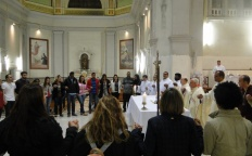 Dom Gil celebra missa com peregrinos da JMJ 2016 na Catedral