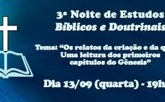 3ª Noite de Estudos Bíblicos e Doutrinais acontece na Catedral