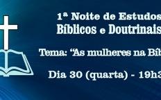 Gratuito: Catedral realiza 1ª Noite de Estudos Bíblicos e Doutrinais