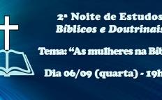 2ª Noite de Estudos Bíblicos e Doutrinais acontece na Catedral