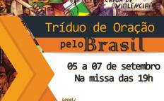 Catedral realiza Tríduo de Oração pelo Brasil
