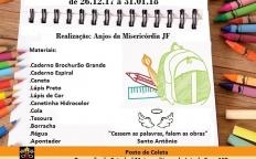 """Grupo """"Anjos da Misericórdia"""" realiza campanha para arrecadação de material escolar"""
