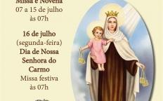 Fiéis celebram Novena de Nossa Senhora do Carmo 2018