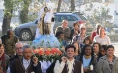 Fiéis celebram o dia de Nossa Senhora do Carmo