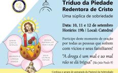 Pastoral da Sobriedade promove tríduo da Piedade Redentora