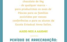 Conselho Central Diocesano da SSVP arrecada barras de chocolate em Campanha de Páscoa
