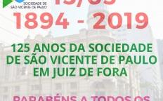 Sociedade de São Vicente de Paulo completa 125 anos de atuação em Juiz de Fora