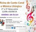 Oficina de Canto Coral e Música Litúrgica está com inscrições abertas
