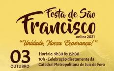 Fazenda da Esperança de Guarará (MG) realiza Festa de São Francisco no formato virtual